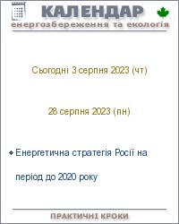 Календарні інформери енергозбереження та екології для сайтів, блогів та щоденників